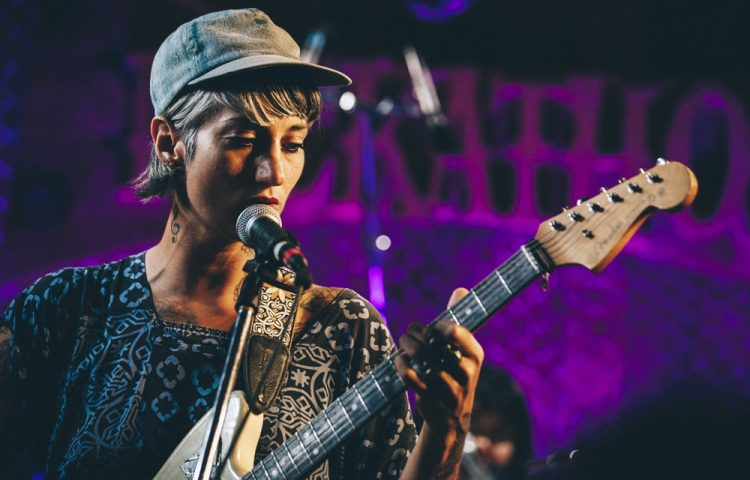 Picture taken of Luz Mendoza at Pickathon on August 4, 2017.